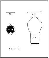 Birne 6V 25/25W Sockel BA20D