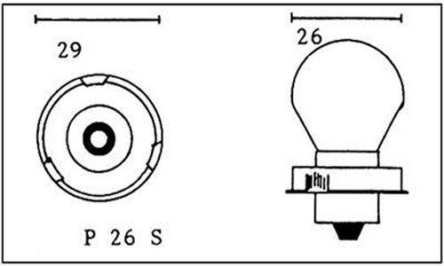 Birne 6V 15W Sockel P26S