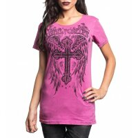 AFFLICTION SINFUL Damen-Shirt Crystal Cathedral
