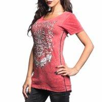 AFFLICTION Damen-Shirt Abrasive Line Scoop Grösse