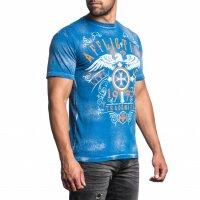 AFFLICTION T-Shirt HIGHER CAST TEE COBALT