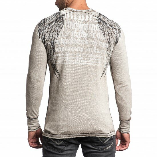 AFFLICTION Wende-Longsleeve ROYAL LORD CHROME sand