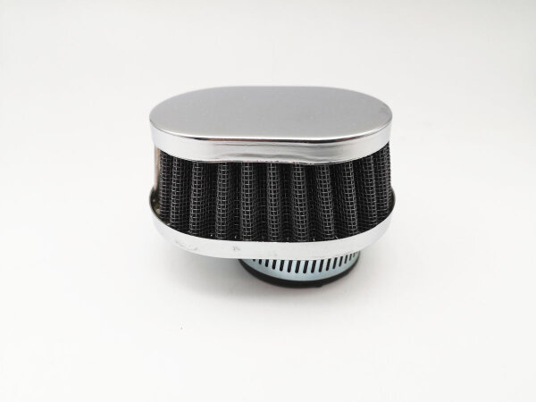 TUNINGLUFTFILTER oval flach chrom 35-37mm