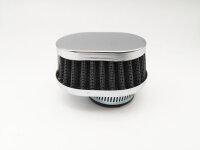 TUNINGLUFTFILTER oval flach chrom 35-37mm