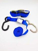 Spanngurte Zurrgurte Tie-Down blau 150cm Länge...