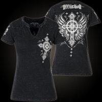 AFFLICTION Damen T-Shirt Saints Parade schwarz XS-L