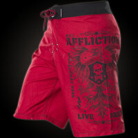 AFFLICTION Boardshorts Warmachine in Rot