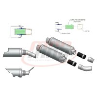 Katalysator 55 mm für Doppelrohr MIVV (2 Stück)