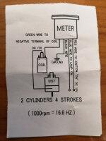 DREHZAHLMESSER schwarz elektrisch bis 15000 U/min
