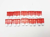 Flachsicherung Flachstecksicherung 10A rot, 10 er Packung