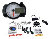 KOSO GP Style Tachometer RX2N weiss mit blauer...