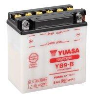 YUASA-Batterie ohne Säure für KAWASAKI BN125...