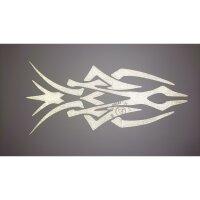 Aufkleber Tribal 3 silber reflektierend 19,5 x 9 cm