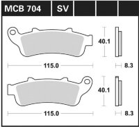 Bremsbelag für Honda 650 ccm NT-V Deauville RC47 Bj....