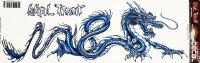 Aufkleber Dragon blue 42 x 14,5cm LETHAL THREAT