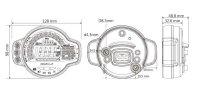 KOSO MS-01 Multifunktions - Cockpit Tachometer...