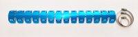 Auspuff Hitzeschutz UNIVERSAL Aluminium blau metallic