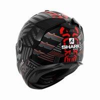 SHARK Integralhelm SPARTAN GT E-BRAKE schwarz-grau-rot...