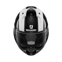 SHARK Klapphelm EVO ES ENDLESS schwarz-weiss-rot glänzend