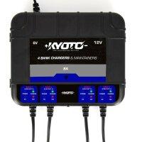 KYOTO Batterieladegerät 4-fach für alle 6V/12V...