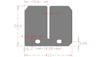 Carbon Membranzungen BETA Techno 125/250 RK6 50, KTM EX...