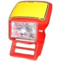 Lampenmaske für 600 ccm HONDA XL 600 R Bj. 83-87 rot...