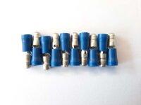 10er Pack 5mm - Rundstecker blau für 2,5mm-Kabel