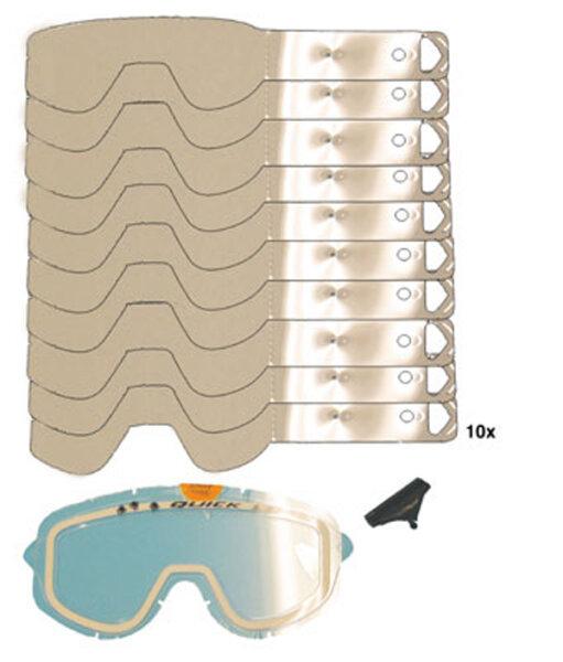 SCOTT Quick Load Tear-off System 1 Grundscheibe/1 Clip/10 Abreissschreiben