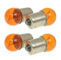 Birne 12V 10W BA15S Kugellampe / orange