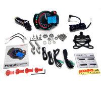 KOSO GP Style Tachometer RX2N+ schwarz mit blauer...