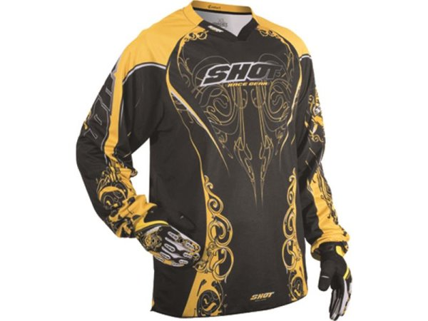 SHOT Cross Enduro Jersey CONTACT BLASON schwarz-gelb Gr. 48-58 = S-X