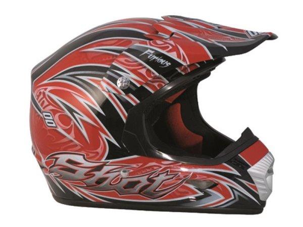 Helm SHOT FURIOUS DECO rot-schwarz-silber Gr. XS-XXL=54-64