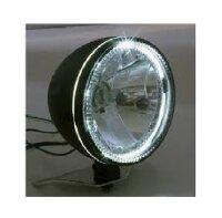 Scheinwerfer 14,6 mit LED Ring mattschw. untere Aufn.