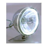 Scheinwerfer 14,6 mit LED Ring chrom untere Aufn.