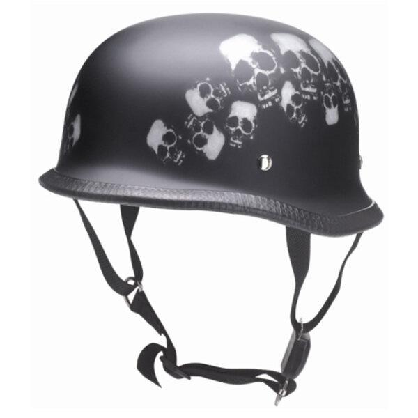 REDBIKE Helm RK-305 Skull schwarz-matt/weiß Gr.