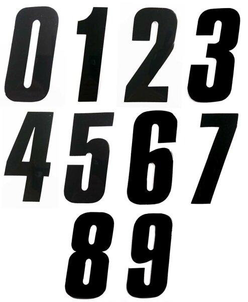 Startnummer schwarz, Hoehe 11cm, Stückweise