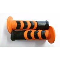 Griffgummi MX Competition orange-schwarz 22/25mm paarweise