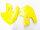 Kühlerverkleidung gelb SUZUKI RM 125/ 250 99-00