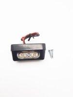 Kennzeichenbeleuchtung LED mit E-Prüfzeichen LxBxT 56x20x26mm schwarz