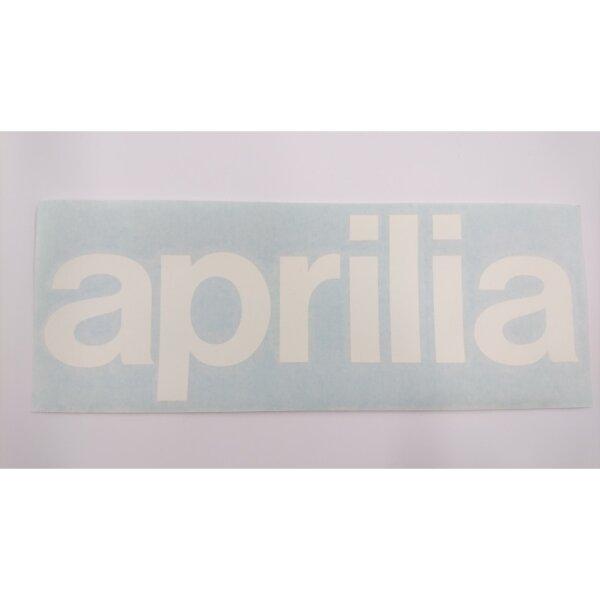 Aufkleber Schriftzug APRILIA weiss 22 x 7,5 cm