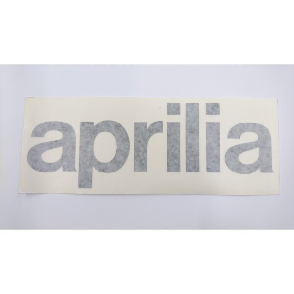 Aufkleber Schriftzug APRILIA schwarz 22 x 7,5 cm
