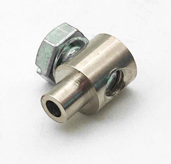 Schraubnippel Flaschennippel  7x11mm für Zug-Ø 2-2,5mm