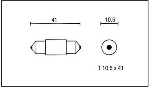 Birne 6V 10W Sockel T10,5x41