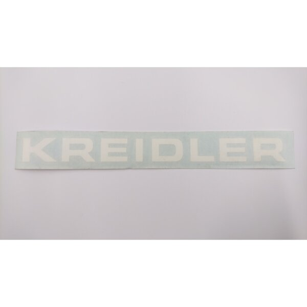 Aufkleber Schriftzug KREIDLER weiß 18 x 1,5 cm