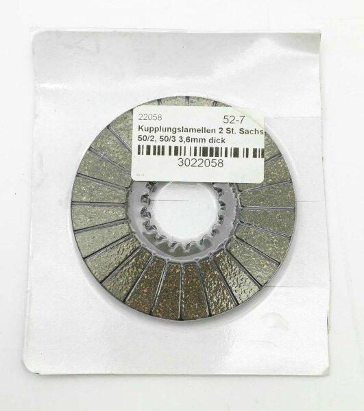 Kupplungslamellen 2 St. Sachs 50/2, 50/3 3,6mm dick