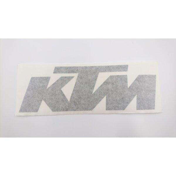 Aufkleber Schriftzug KTM schwarz 19 x 6,3 cm