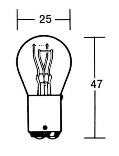 Birne 12V 21/5W Sockel BAY15D