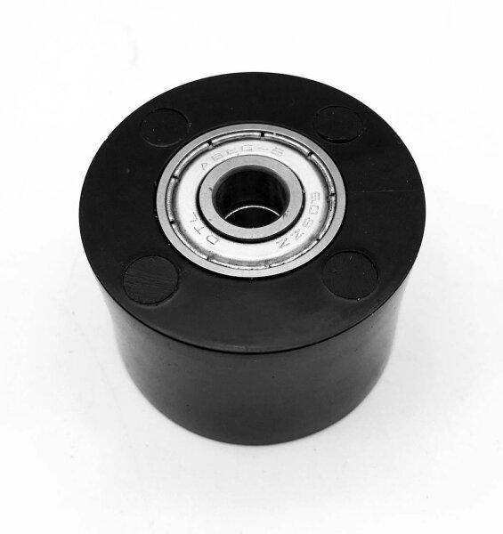Kettenrolle schwarz, kugelgelagert, Aussendurchm. 30mm Innen