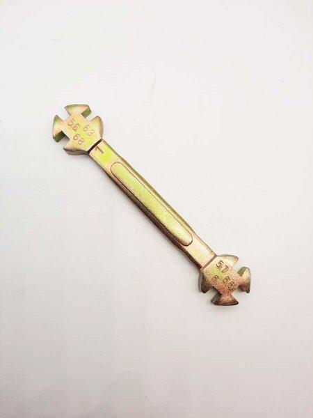 Speischenschlüssel für Schlüsselweiten 5,6 / 5,7 / 6,0 / 6,3 / 6,6 / 6,8 mm
